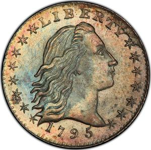 United States / Half Dime 1795 Flowing Hair - obverse photo
