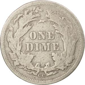 United States / One Dime 1877 Seated Liberty - reverse photo