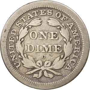 United States / One Dime 1841 Seated Liberty - reverse photo