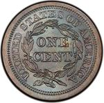 United States / One Cent 1843 Braided Hair / Mature head, large letters - reverse photo