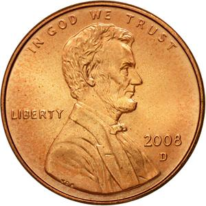 United States / One Cent 2008 Lincoln Memorial - obverse photo