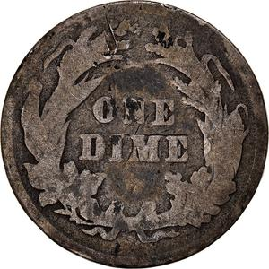 United States / One Dime 1897 Barber - reverse photo