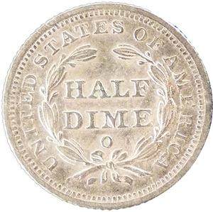 United States / Half Dime 1848 Seated Liberty - reverse photo