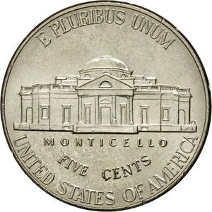 United States / Five Cents 2007 Jefferson Nickel - reverse photo