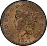 United States / One Cent 1817 Matron Head / 15 stars - obverse photo