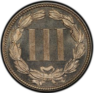 United States / Three Cents 1878 (Proof only) - reverse photo