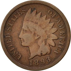 United States / One Cent 1893 Indian Head - obverse photo