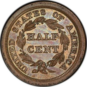 United States / Half Cent 1847 Braided Hair (Proof only) - reverse photo
