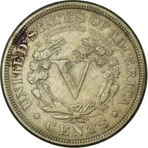 United States / Five Cents 1888 Liberty Head Nickel - reverse photo