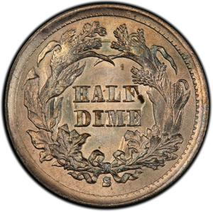United States / Half Dime 1866 Seated Liberty - reverse photo