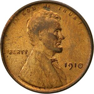 United States / One Cent 1910 Wheat Penny - obverse photo