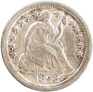 United States / Half Dime 1848 Seated Liberty - obverse photo