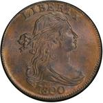 United States / One Cent 1800 Draped Bust / 1800/798 overdate, Style 1 Hair - obverse photo