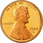 United States / One Cent 1984 Lincoln Memorial / Proof (San Francisco) - obverse photo