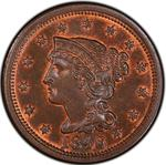United States / One Cent 1846 Braided Hair / Medium date - obverse photo