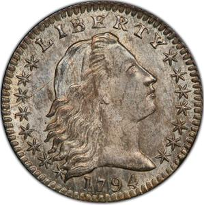 United States / Half Dime 1794 Flowing Hair - obverse photo