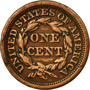United States / One Cent 1847 Braided Hair - reverse photo