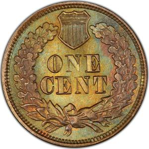 United States / One Cent 1877 Indian Head - reverse photo