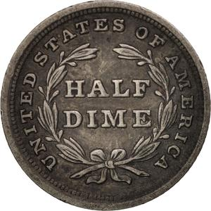 United States / Half Dime 1838 Seated Liberty - reverse photo
