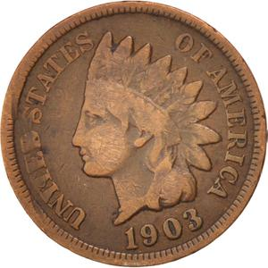 United States / One Cent 1903 Indian Head - obverse photo