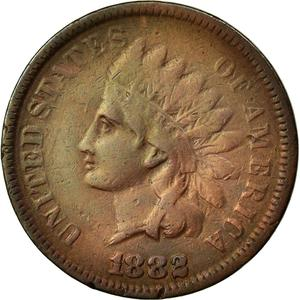 United States / One Cent 1882 Indian Head - obverse photo