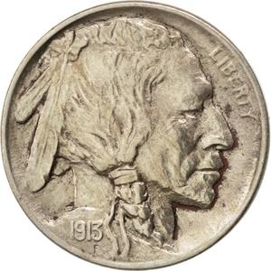 United States / Five Cents 1913 Buffalo Nickel - obverse photo