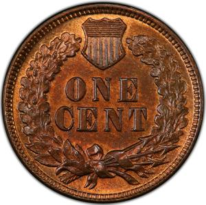 United States / One Cent 1873 Indian Head - reverse photo