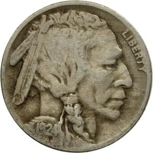 United States / Five Cents 1924 Buffalo Nickel - obverse photo