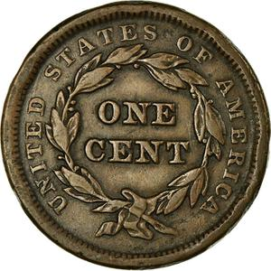 United States / One Cent 1841 Braided Hair - reverse photo