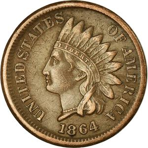 United States / One Cent 1864 Indian Head (Bronze) - obverse photo
