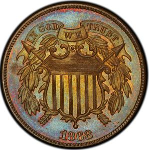 United States / Two Cents 1868 - obverse photo