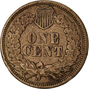United States / One Cent 1863 Indian Head - reverse photo