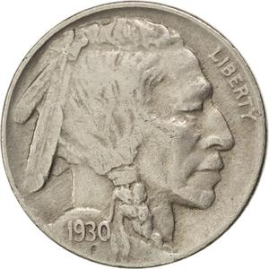 United States / Five Cents 1930 Buffalo Nickel - obverse photo