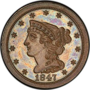 United States / Half Cent 1847 Braided Hair (Proof only) - obverse photo