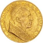 Vatican / One Hundred Lire 1941 Gold - obverse photo