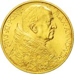 Vatican / One Hundred Lire 1929 Gold - obverse photo