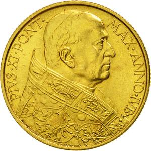 Vatican / One Hundred Lire 1933-1934 Gold - obverse photo