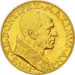 Vatican / One Hundred Lire 1939 Gold - obverse photo
