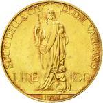Vatican / One Hundred Lire 1935 Gold - reverse photo