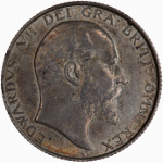 Portrait by George William de Saulles (Bare Head): Photo Coin - Shilling, Edward VII, England, Great Britain, 1902