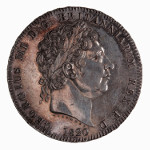 Portrait by Benedetto Pistrucci (Laureate Head): Photo Coin - Crown, George III, Great Britain, 1820