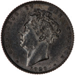 Portrait by William Wyon (Bare Head): Photo Coin - Sixpence, George IV, Great Britain, 1829