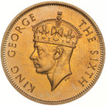 King George VI of the United Kingdom / Portrait by Percy Metcalfe (Crowned Head)