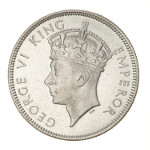 Portrait by Percy Metcalfe (Crowned Head): Photo Proof Coin - Florin (2 Shillings), Fiji, 1937