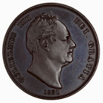 Portrait by William Wyon: Photo Coin - Penny, William IV, Great Britain, 1831
