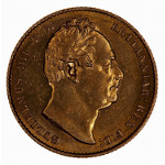 Portrait by William Wyon: Photo Coin - Sovereign, William IV, Great Britain, 1832
