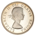 Portrait by Mary Gillick (First Portrait): Photo Proof Coin - 50 Cents, Canada